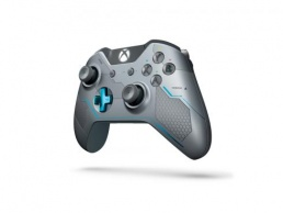 Геймпад Microsoft Xbox One Wireless Controller +  Halo 5 Silver/Blue GK4-00007 - фото